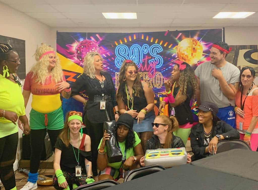 sjrp staff 80s party